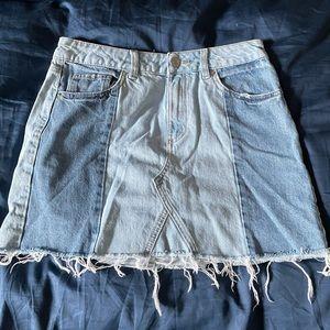 Garage Two-Toned Denim Skirt